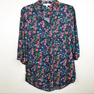 Philosophy clothing floral button down blouse